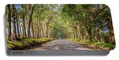 Eucalyptus Tree Tunnel - Kauai Hawaii Portable Battery Charger by Brian Harig
