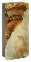 Eucharis  A Girl With A Basket Of Fruit Portable Battery Charger