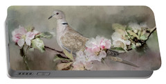 Eurasian Dove In The Garden Portable Battery Charger by Jai Johnson