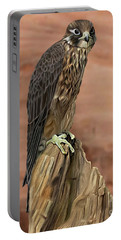 Eurasian Hobby Falcon Portable Battery Charger by Walter Colvin