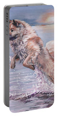 Eurasier In The Sea Portable Battery Charger