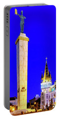 Portable Battery Charger featuring the photograph Europe Square by Fabrizio Troiani