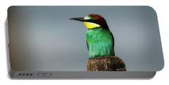 Portable Battery Charger featuring the photograph European Bee Eater by Wolfgang Vogt