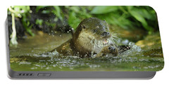 European Otters Playing Portable Battery Charger