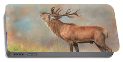 European Red Deer Portable Battery Charger by David Stribbling