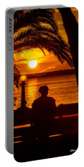 Portable Battery Charger featuring the photograph Eustis Sunset by Christopher Holmes