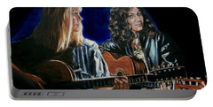 Eva Cassidy And Katie Melua Portable Battery Charger by Bryan Bustard