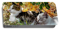 Even Kittens Gossip Portable Battery Charger