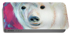 Even Polar Bears Love Pink Portable Battery Charger