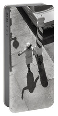 Even Your Shadow Dances On Mardi Gras Day Portable Battery Charger