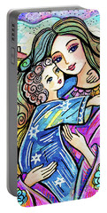 Portable Battery Charger featuring the painting Evening Angel by Eva Campbell