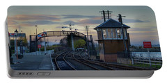 Portable Battery Charger featuring the photograph Evening At Bo'ness Station by RKAB Works