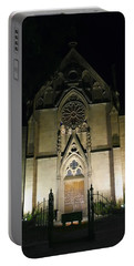 Portable Battery Charger featuring the photograph Evening At Loretto Chapel Santa Fe by Kurt Van Wagner