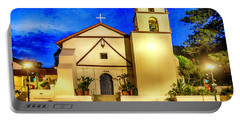 Evening At Mission San Buenaventura Portable Battery Charger