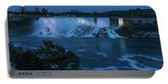 Evening At Niagara Falls, New York View Portable Battery Charger
