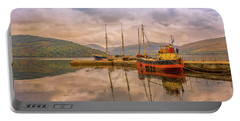 Portable Battery Charger featuring the photograph Evening At The Dock by Roy McPeak