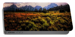 Evening At The Grand Tetons  ... Portable Battery Charger