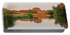 Portable Battery Charger featuring the photograph Evening At The Lake by David Chandler