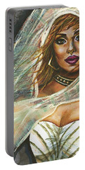 Portable Battery Charger featuring the painting Evening Breeze by Alga Washington
