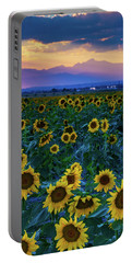 Evening Colors Of Summer Portable Battery Charger