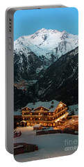 Evening Comes In Courchevel Portable Battery Charger