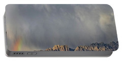 Portable Battery Charger featuring the photograph Evening Drama Over The Organs by Kurt Van Wagner