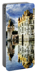 Evening Falls At The Castle Portable Battery Charger