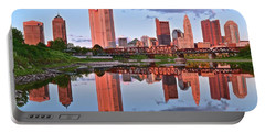 Portable Battery Charger featuring the photograph Evening Falls In Columbus by Frozen in Time Fine Art Photography