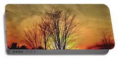 Portable Battery Charger featuring the photograph Evening Fire by Bruce Patrick Smith