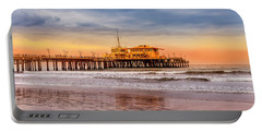Evening Glow At The Pier Portable Battery Charger
