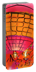 Portable Battery Charger featuring the digital art Evening Glow Red And Yellow Watercolor by Kirt Tisdale