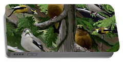 Evening Grosbeaks Portable Battery Charger