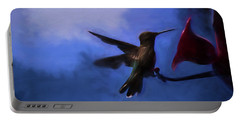 Evening Hummingbird Portable Battery Charger by Bonnie Bruno