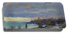 Evening In Gratwick Waterfront Park Portable Battery Charger