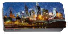 Evening In Melbourne Portable Battery Charger