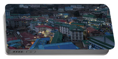 Portable Battery Charger featuring the photograph Evening In Namche Nepal by Mike Reid