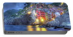 Evening In Riomaggiore Portable Battery Charger