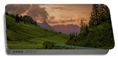 Evening In The Alps Portable Battery Charger