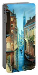 Evening In Venice Portable Battery Charger by Derek Rutt