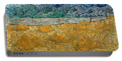 Portable Battery Charger featuring the painting Evening Landscape With Rising Moon by Van Gogh