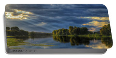 Portable Battery Charger featuring the photograph Evening Light by Lynn Hopwood