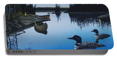 Evening Loons Portable Battery Charger