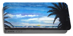 Tropical Evening Portable Battery Charger by Mary Ellen Frazee