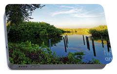 Portable Battery Charger featuring the photograph Evening On The Bayou by Paul Mashburn