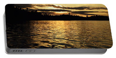 Evening Paddle On Amoeber Lake Portable Battery Charger by Larry Ricker