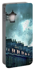 Evening Rainstorm In The City Portable Battery Charger by Jill Battaglia
