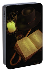 Portable Battery Charger featuring the photograph Evening Reading by Ann Lauwers