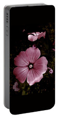 Evening Rose Mallow Portable Battery Charger by Danielle R T Haney