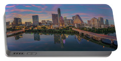 Evening Skyline Of Austin, Texas 7-4 Portable Battery Charger