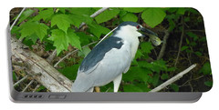 Evening Snack For A Night Heron Portable Battery Charger by Donald C Morgan